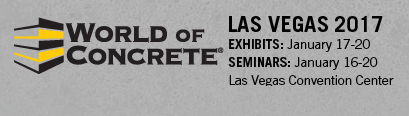 World of Concrete, Las Vegas, February 2016. Visit us at booth #N1550.