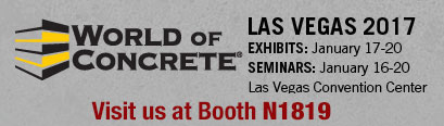 World of Concrete, Las Vegas, 2017. Visit us at booth #N1819.