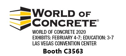 World of Concrete, 2020. Booth C3563.