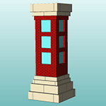 [Sample rendering of a masonry pier]