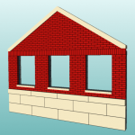 [Sample rendering of a masonry gable]